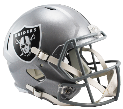 Oakland riddell speed replica. Raiders helmet png