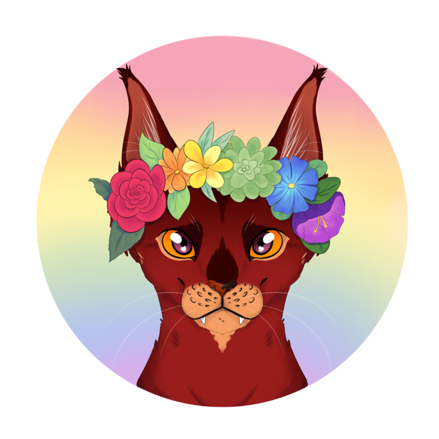 Rainbow flower crown png. Icon io by katpurr