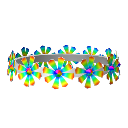 Rainbow flower crown png. May day roblox