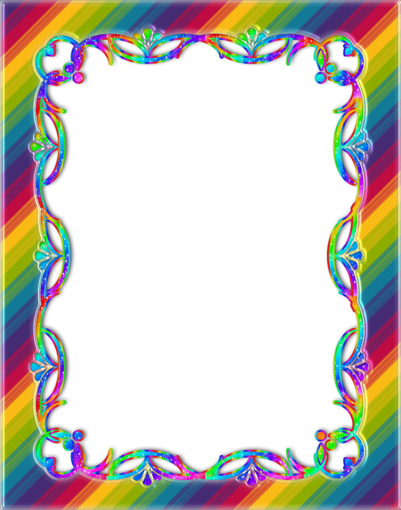 By princessdawn on deviantart. Rainbow frame png