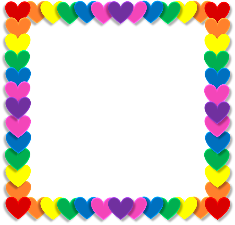 Free image on pixabay. Rainbow frame png