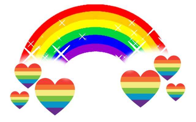 Heart picture cutie mark. Rainbow hearts png