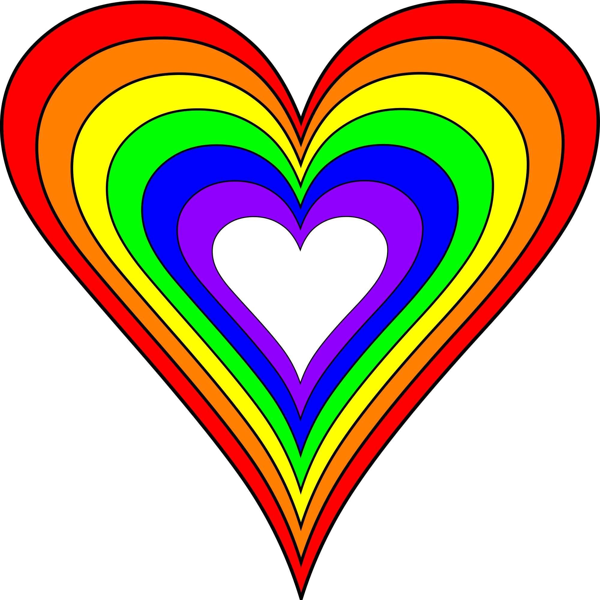 Rainbow hearts png. File brighter heart svg