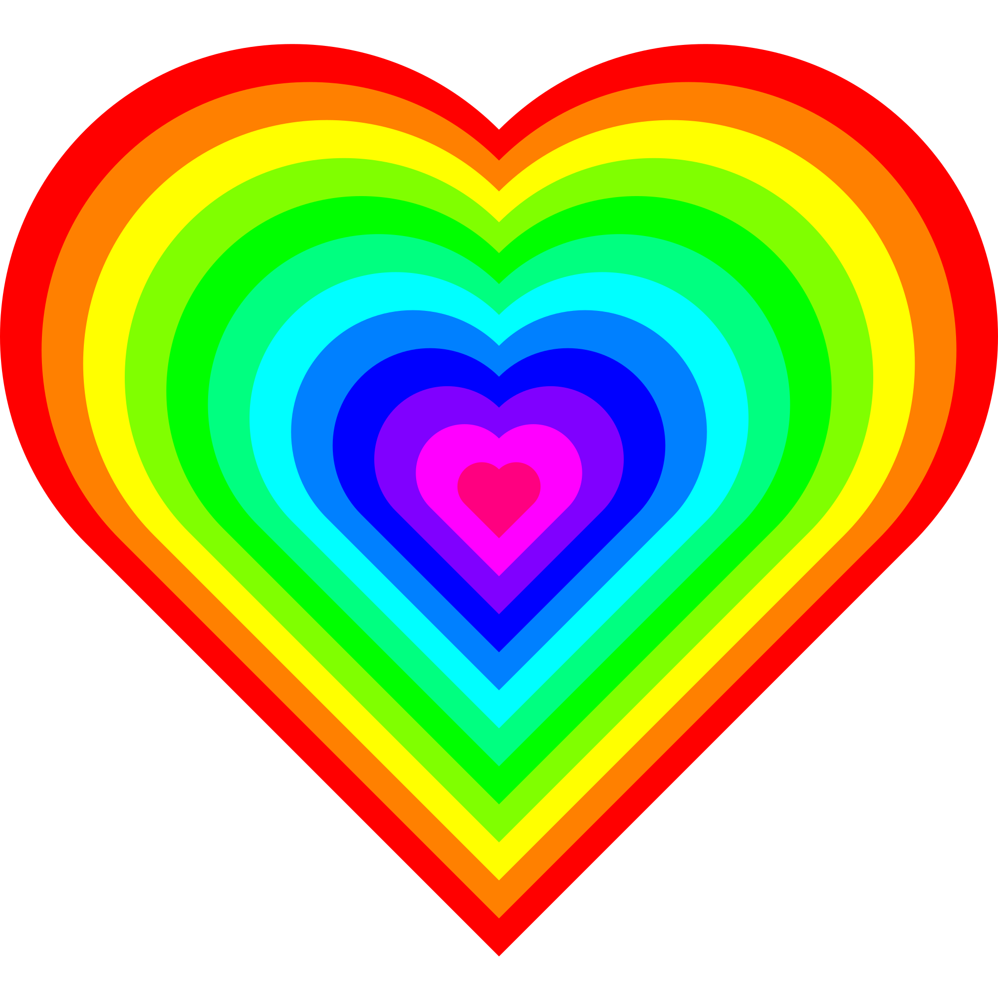 Rainbow hearts png. File heart symbol svg