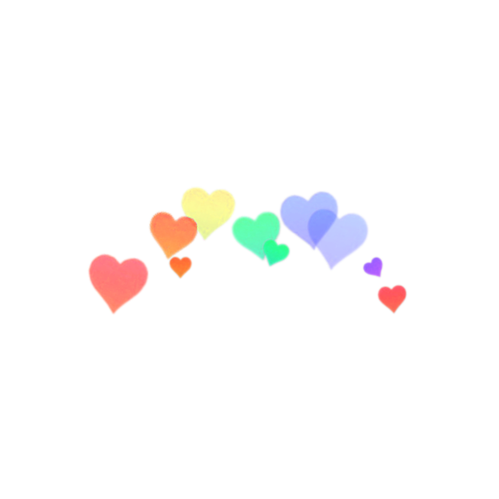 Sticker by rileyy . Rainbow hearts png