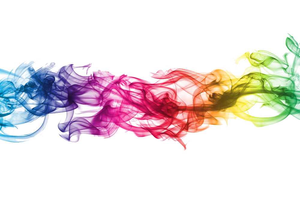 Rainbow smoke png. Colored transparent images all