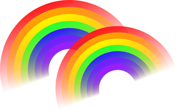 Double clip art at. Rainbow vector png