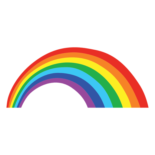 Rainbow vector png. Colorful cartoon transparent svg