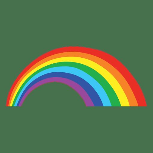 Rainbow vector png. Colorful cartoon transparent svg