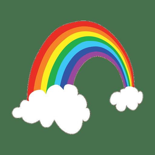 Cartoon colorful transparent svg. Rainbow vector png