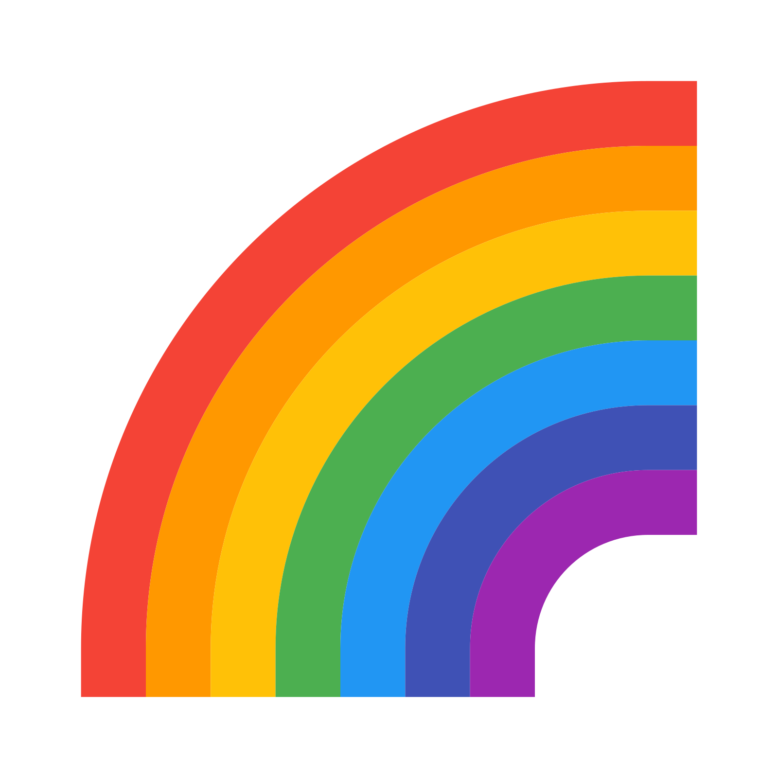 Icon free download and. Rainbow vector png