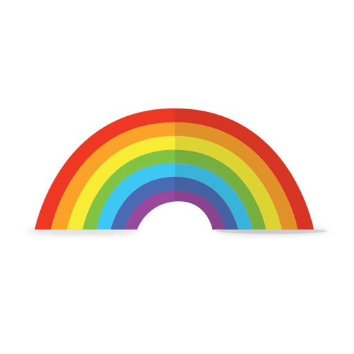 Rainbow vector png. Colorful transparent svg