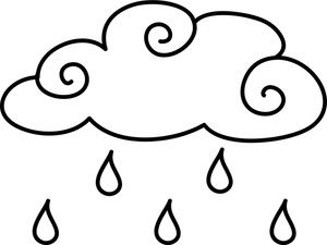 Raindrop clipart cloud. Coloring pages image raindrops