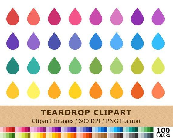 teardrop tear drop. Raindrop clipart colored