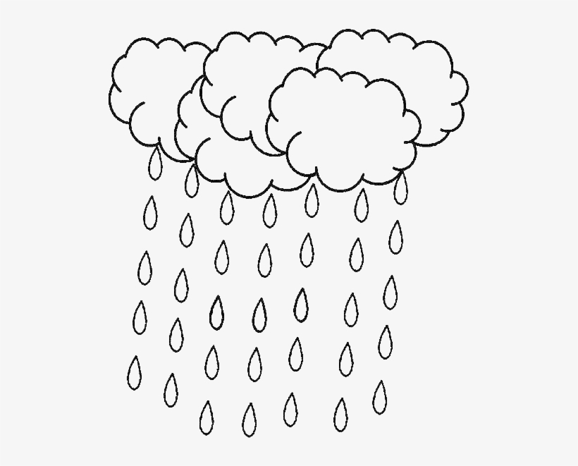 A lot of falling. Raindrop clipart colouring page