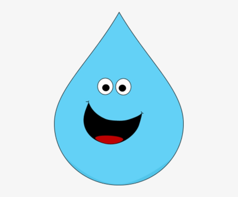 Raindrop clipart cute. Smiling png image