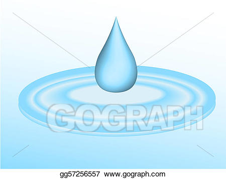 Raindrop clipart falling water. Stock illustration d droplet