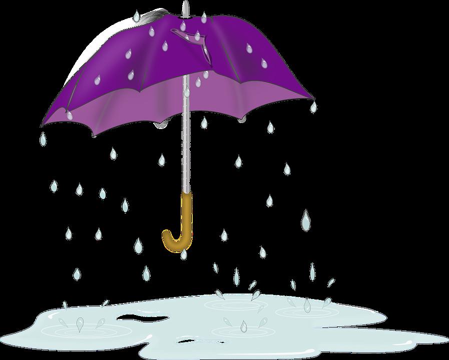 Umbrella raindrops no background. Raindrop clipart happy