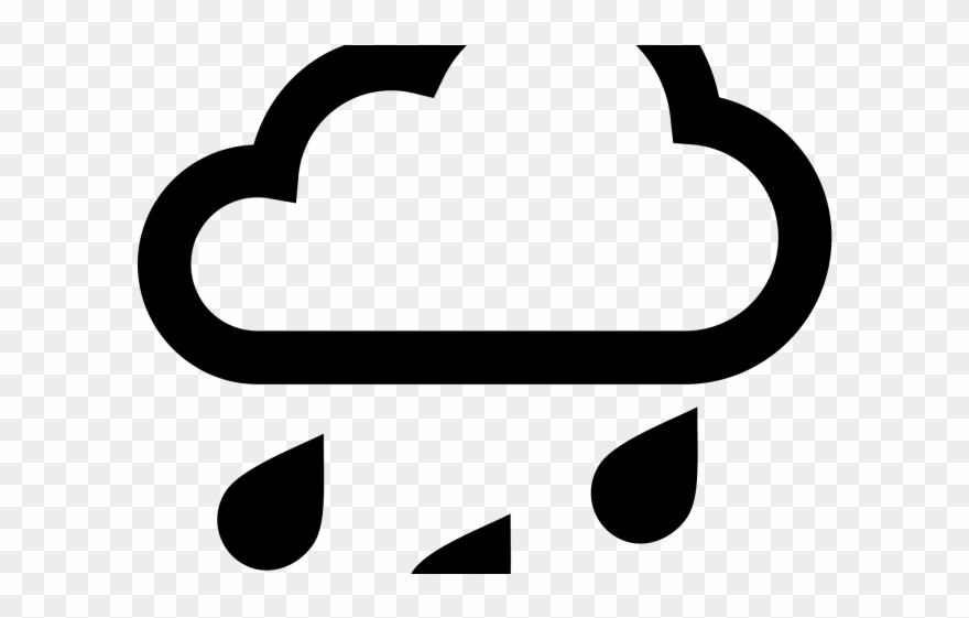 Raindrops weather icon black. Raindrop clipart heavy rainfall