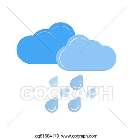 Raindrop clipart heavy rainfall. Vector art rain drawing