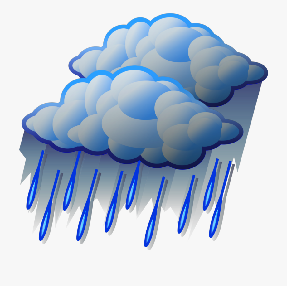 Raindrop clipart heavy rainfall. Ftestickers cloud rain raindrops