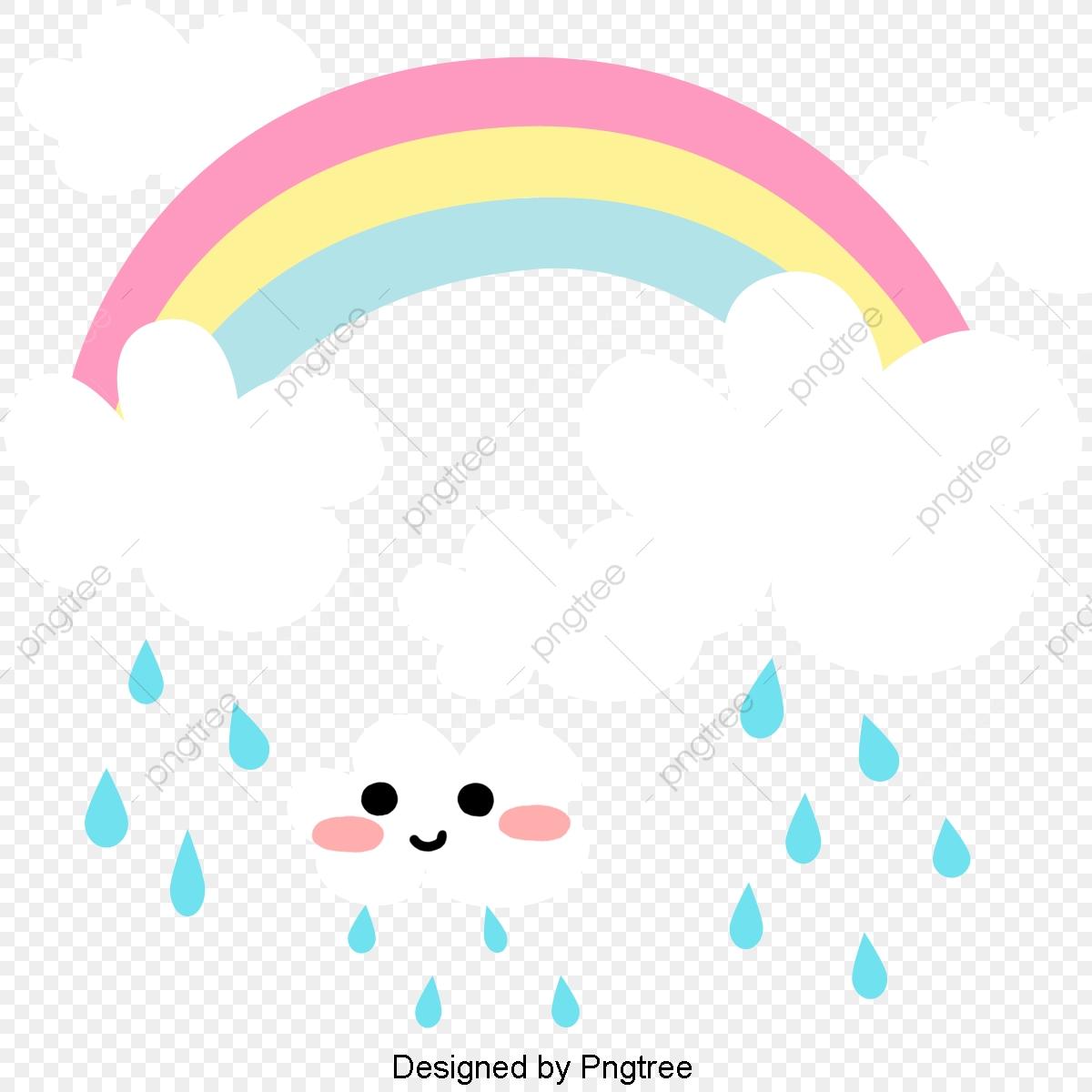 Raindrop clipart painted. Cartoon hand clouds rain