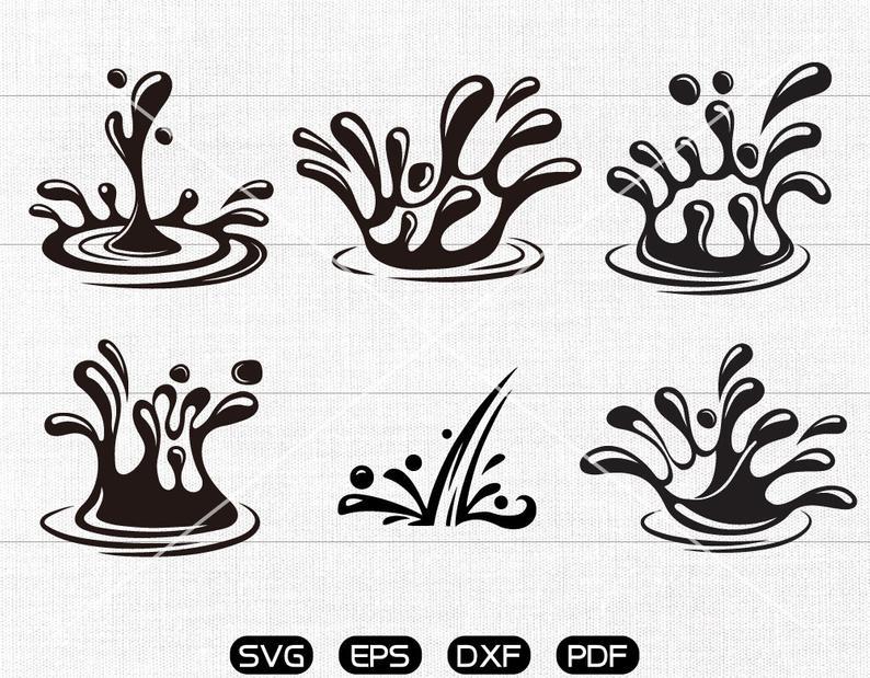 Raindrop clipart pdf. Water dro svg splash