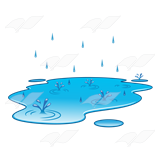 With raindrops . Raindrop clipart puddle