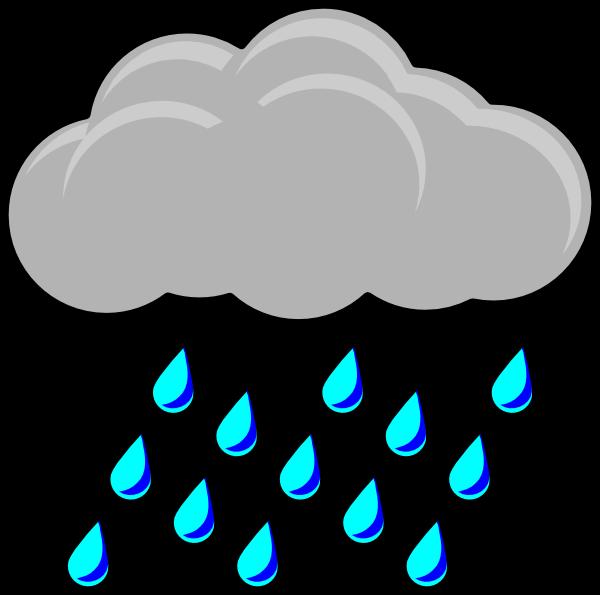 Raindrop clipart rainy day. Raining weather cliparts zone