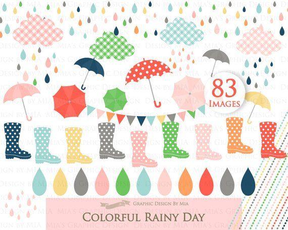 Rain boots umbrella images. Raindrop clipart rainy day
