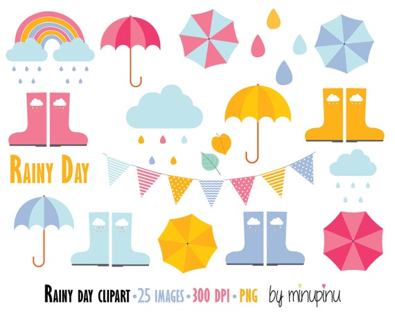 Rainy day rain clip. Raindrop clipart spring