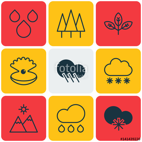 Raindrop clipart water world. Set of icons includes