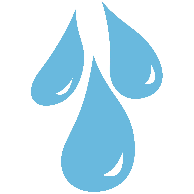 Sunshower raindrops cutie mark. Raindrop clipart weather