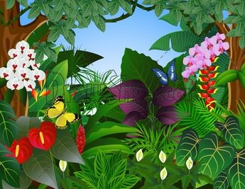 Flowers clip art join. Rainforest clipart