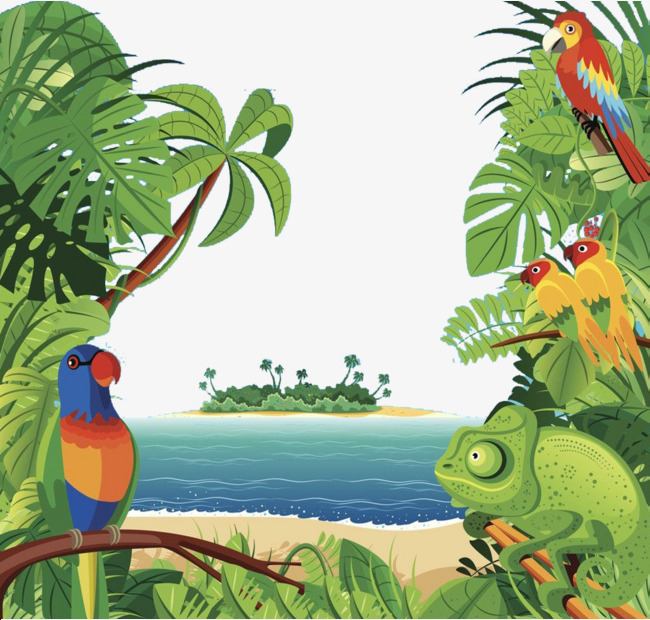 Rainforest clipart. Tropical ecosystem coastal forest