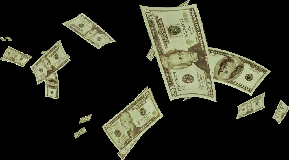 raining money png