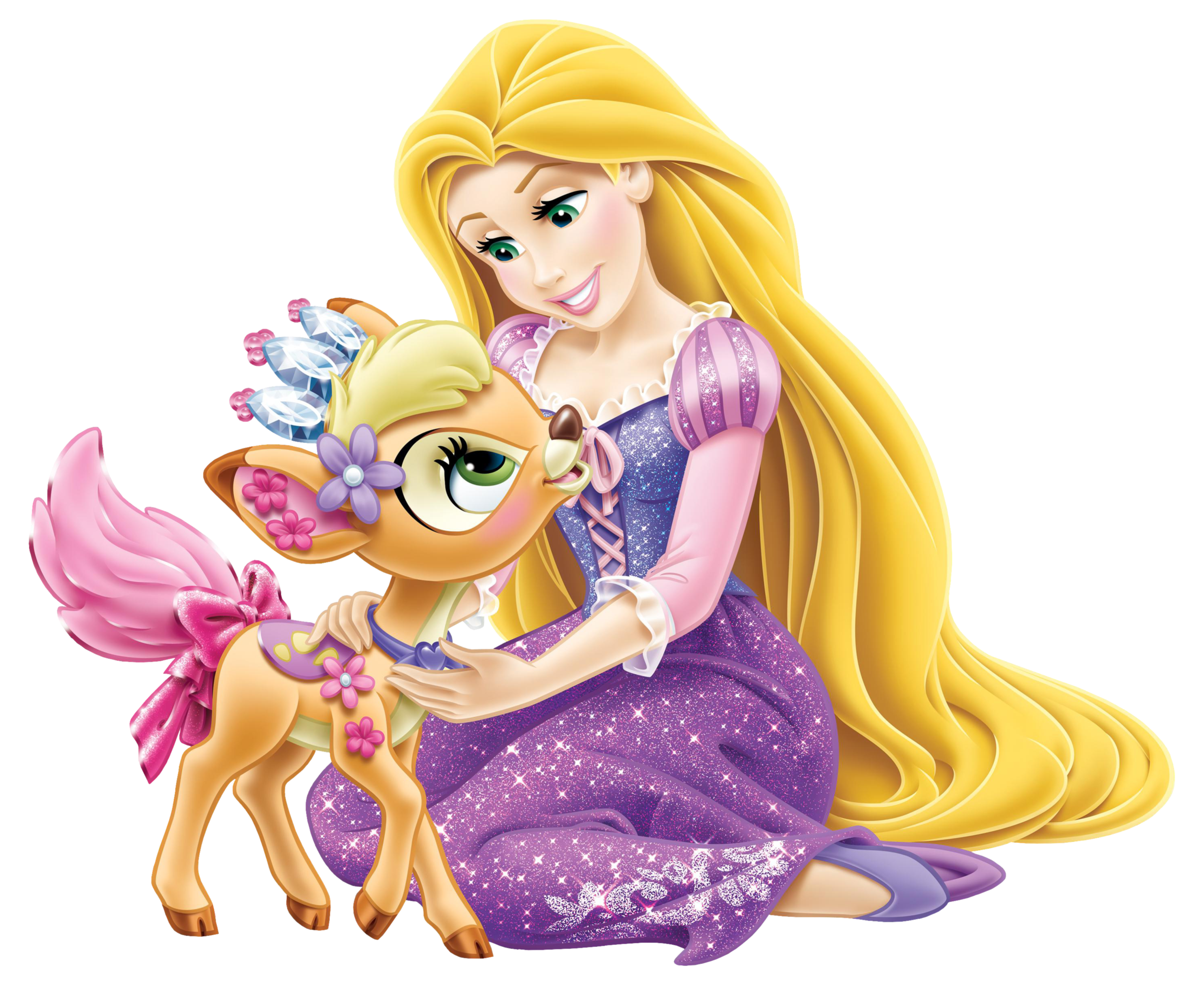 Disney rapunzel with little. Princess clipart puppy