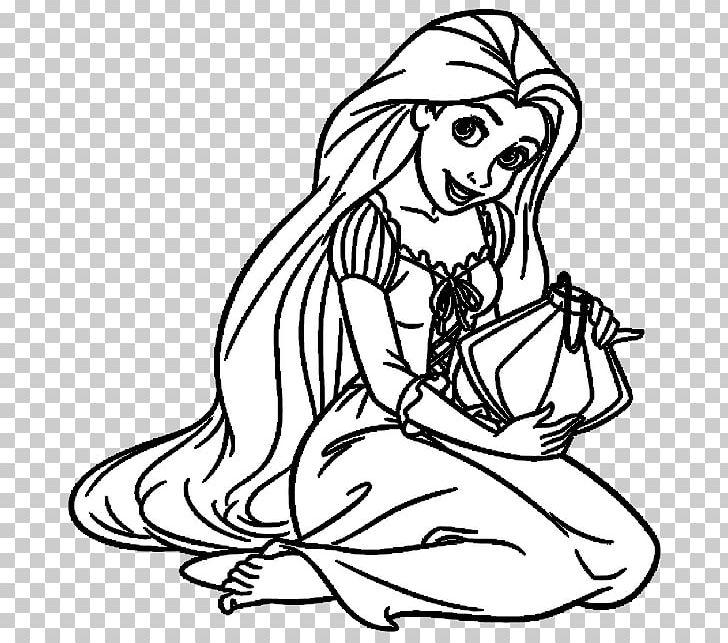 Rapunzel clipart black and white. Princesas disney princess drawing