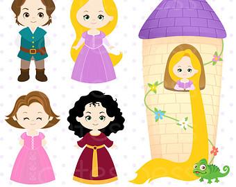 Rapunzel clipart cartoon. Free princess cliparts download