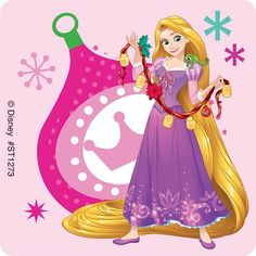 Pin by flora rose. Rapunzel clipart christmas