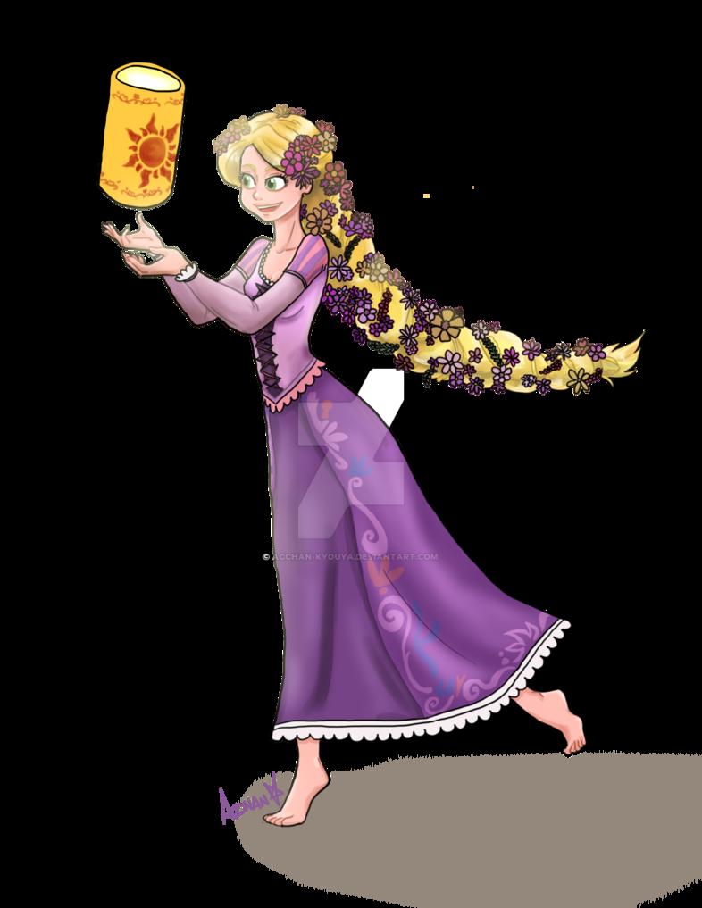 Rapunzel clipart fan. Fanart by acchanchibi on