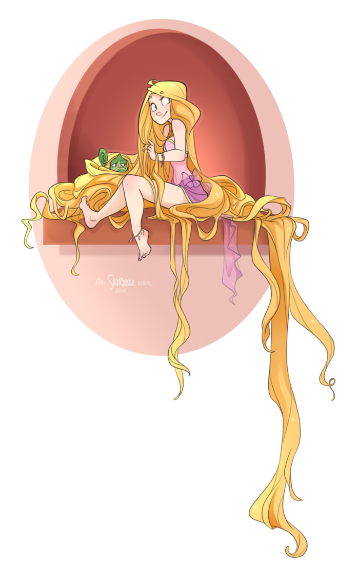 By skirtzzz on deviantart. Rapunzel clipart fan
