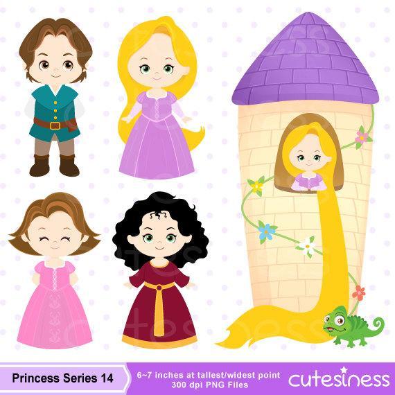 Princess digital . Rapunzel clipart lil