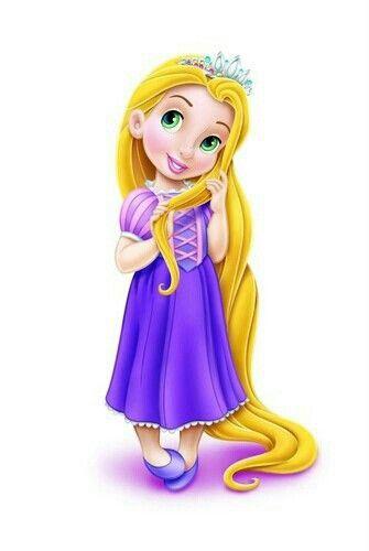 Rapunzel clipart lil. Little disney princesses princes
