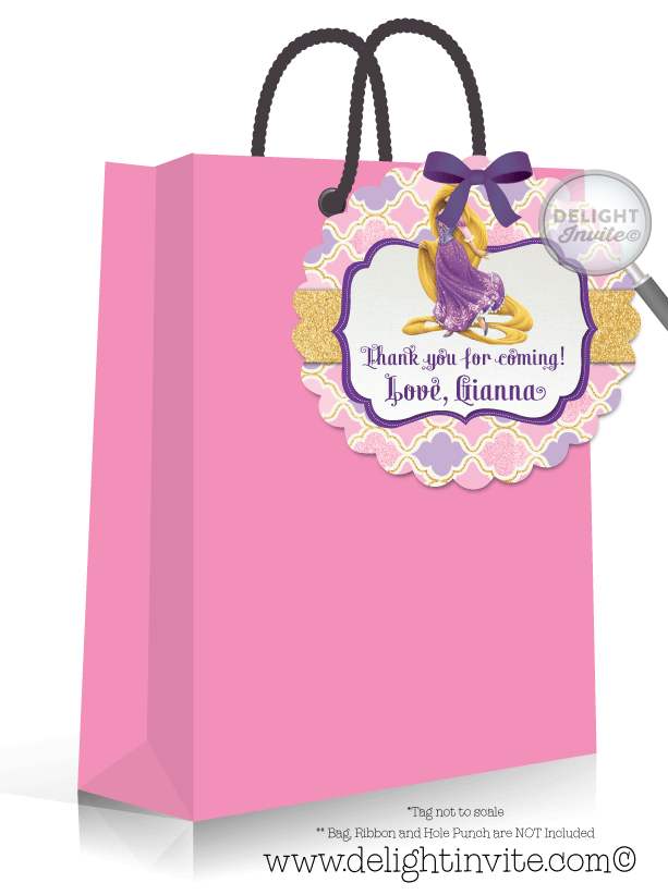 Princess favor tags di. Rapunzel clipart rapunzel birthday