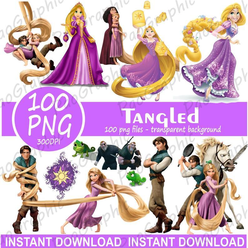 Rapunzel clipart rapunzel birthday. Tangled png digital images