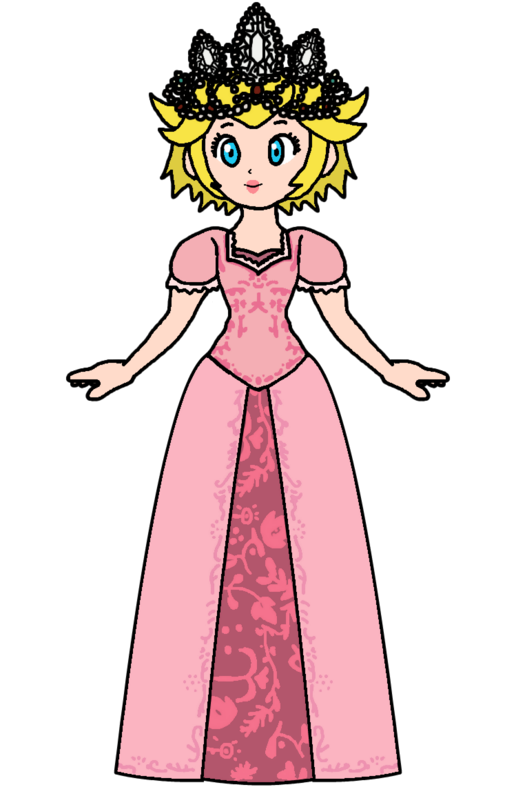 Rapunzel clipart rapunzel dress. Peach princess by katlime