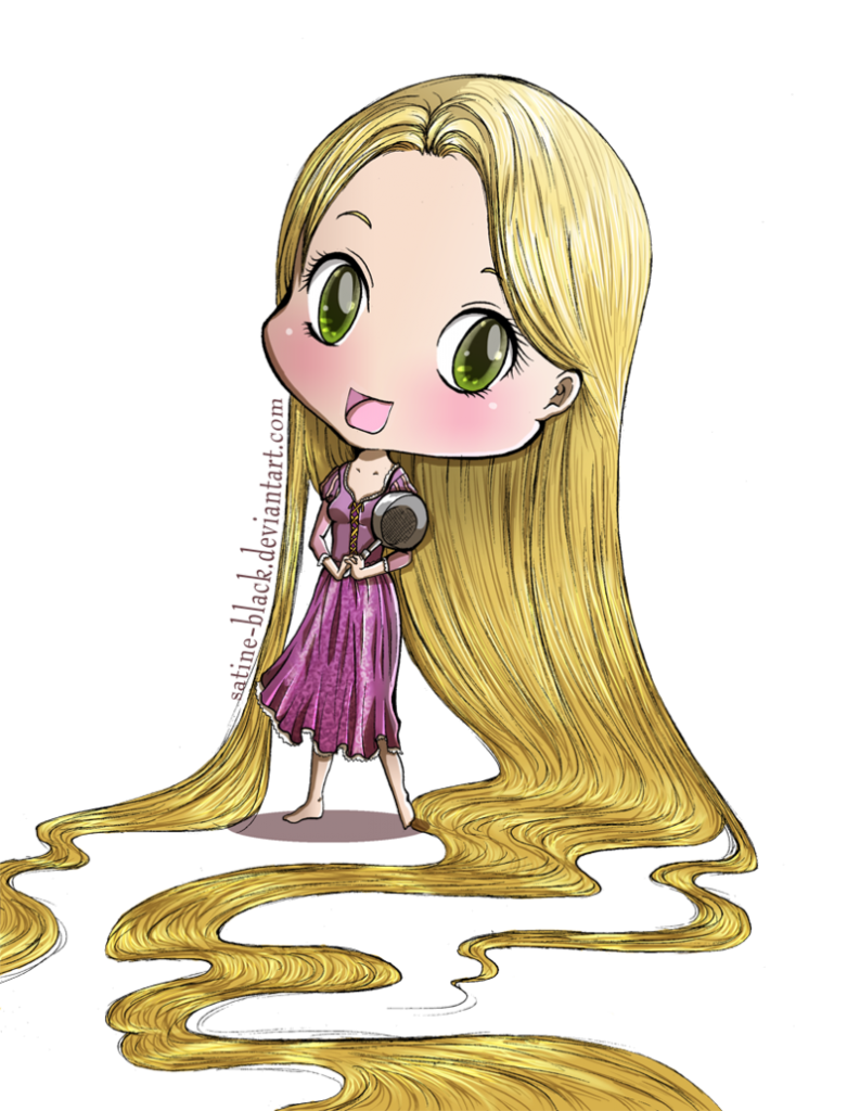 Rapunzel clipart rapunzel short hair. Tangled chibi kawaii anime
