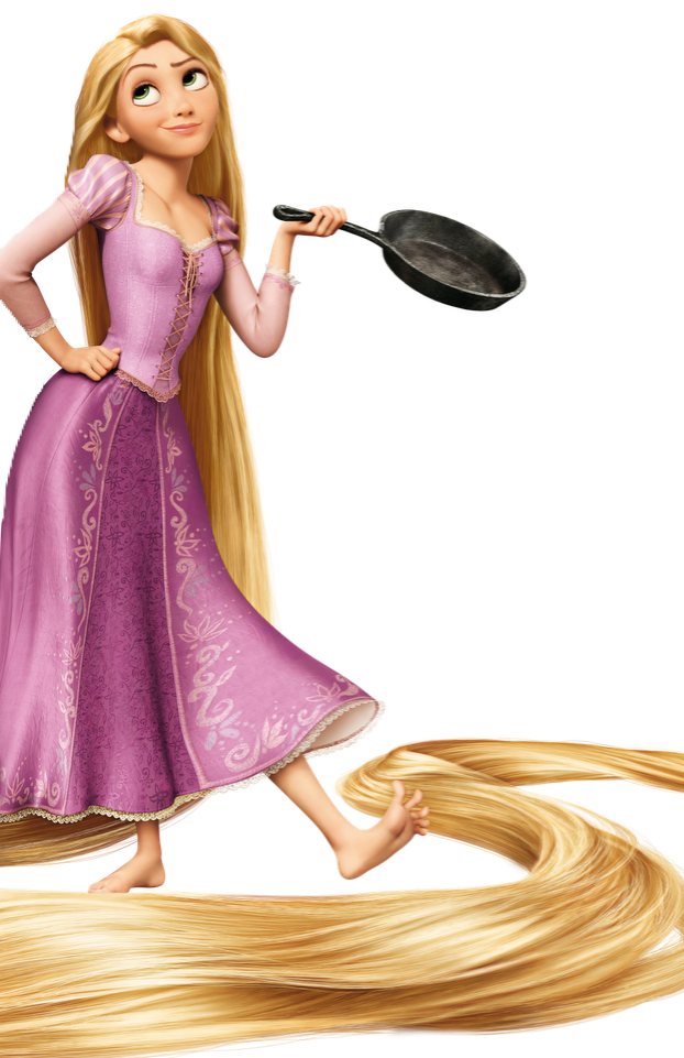 Rapunzel clipart rapunzel short hair. And her frying pan
