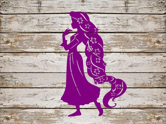 Rapunzel clipart svg. Tangled bundle cut file